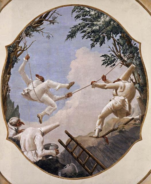 The Swing of Pulcinella, 1791-93, by Giandomenico Tiepolo, Ca' Rezzonico, Venice