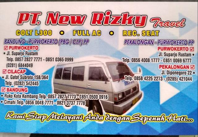 Kontak Travel Pekalongan Purwokerto