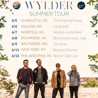 Tour flyer for Wylder's Summer 2019 East Coast Tour