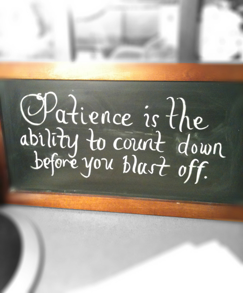 Patience Inspiration Quote, Whimsical calligraphy, Fun Handwritten Lettering by Marivic Ulep