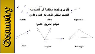 حمل قوى مراجعة نهائية فى الهندسه للصف الثانى الأعدادى الترم الأول geometry review