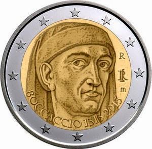 2 euro Italy 2013, Giovanni Boccaccio