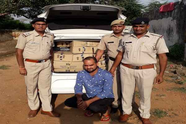 faridabad-mangar-police-chowki-caught-illegal-wine-news-in-hindi