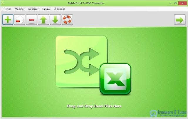 Batch Excel to PDF Converter : un logiciel gratuit de conversion par lots d'Excel en PDF