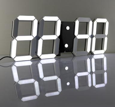Đồng hồ điện tử Led treo tường đẹp 3D