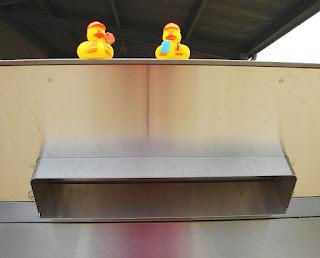 Bob and Howard (ducks) on bookdrop