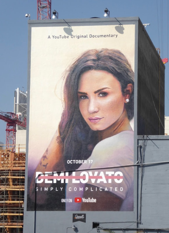 Demi Lovato Simply Complicated wall ad