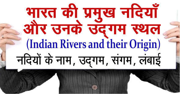 indian rivers and their origins in hindi