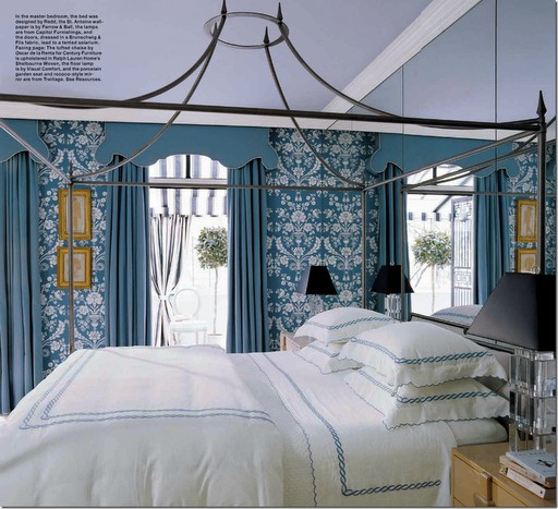The Glam Pad: Beautiful Blue And White Bedrooms