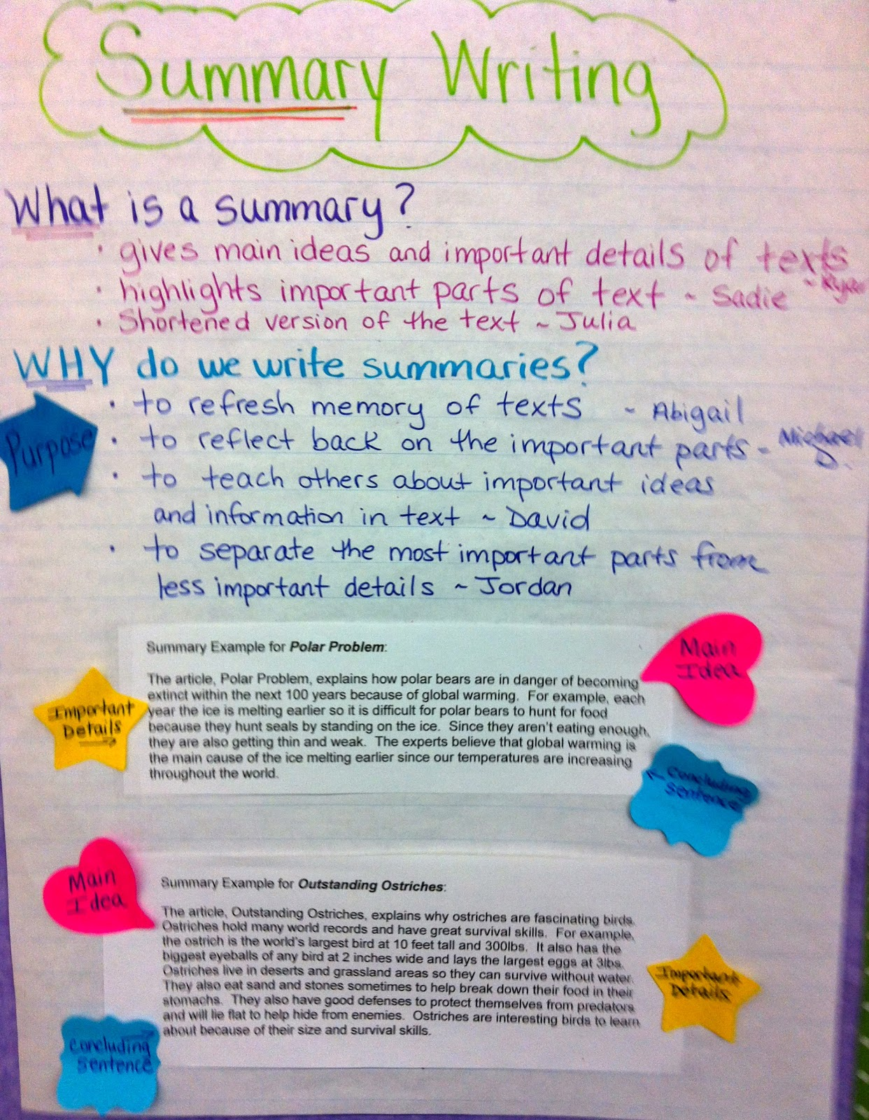 Two Reflective Teachers Summary Writing In Nonfiction