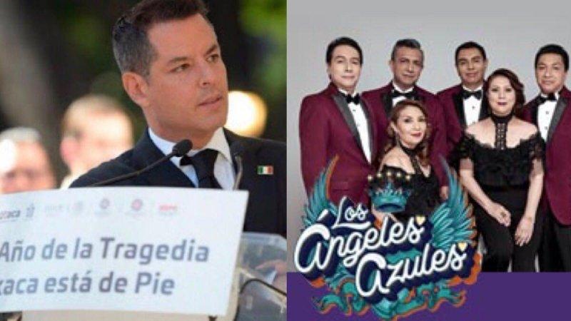 """VIDEO: El gobernador priista de Oaxaca llama """"Los Ángeles Azules"""" a los heroicos """"Angeles Verdes"""""""