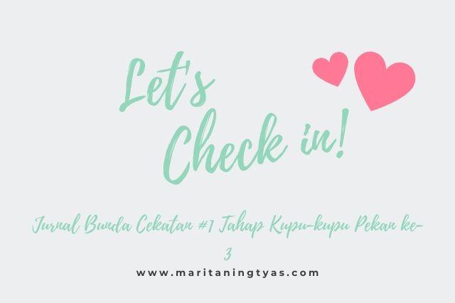 Jurnal Bunda Cekatan #1 Tahap Kupu-kupu Ke-4: Let's Check In!