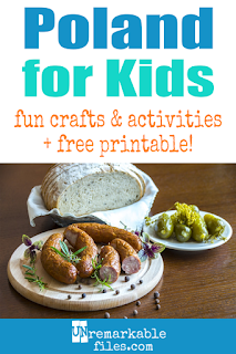 Teaching your kids about Poland is fun and hands-on with these free crafts, ideas, and activities! #poland #polish #learning #kids #educational