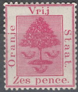 Orange Free State 1868 6d rose