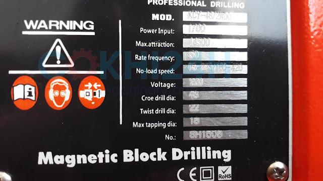 Bảng thông số kỹ thuật KCY-48-2WDO