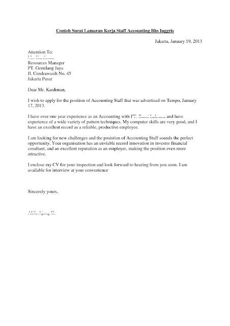 Contoh Surat Lamaran Kerja Bahasa Inggris (via: popbela.com)