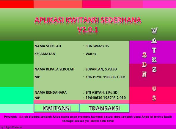 Download Update Aplikasi Kwitansi BOS V2.0.1 Terbaru