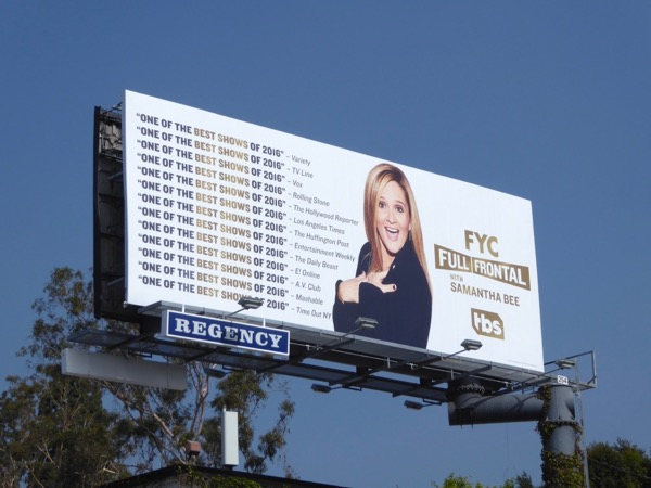 Full Frontal Samantha Bee Emmy 2017 FYC billboard