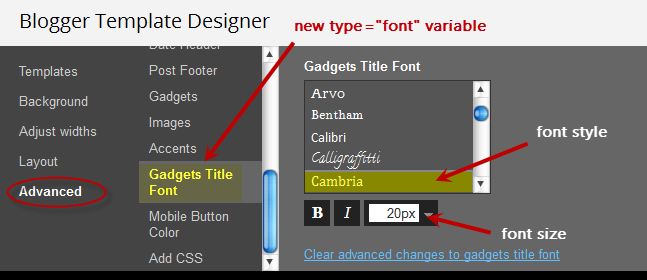 variable font type advanced