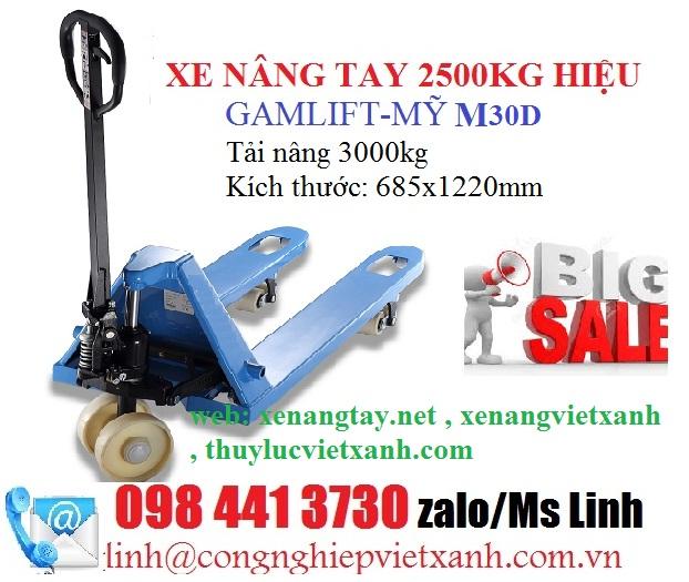 Giảm giá xe nâng tay 2.5T 3T 5T Gamlift-my