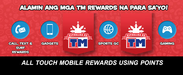 List of TM (Touch Mobile) Rewards (Prepaid & Postpaid) Item Codes that You Can Redeem Using Your Points Earned 2017