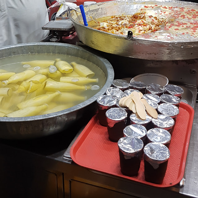 Indian sweets desert like badam milk and shahi tukda in Old Delhi India