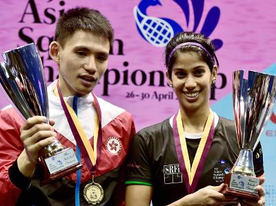 जोशना चिनप्पा  ने दीपिका पल्लीकल को हराकर एशियाई स्क्वॉश चैंपियनशिप 2017 खिताब जीता