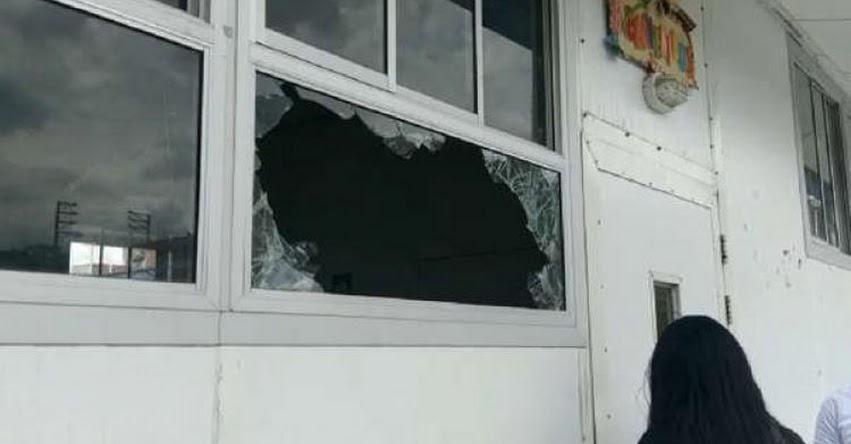 Delincuentes robaron equipos y útiles escolares en colegio prefabricado en el distrito del Tambo, en Junín