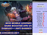 Download Aplikasi MOD Mobile Legends Rank Booster Damage++ Anti Banned v4 Patch Dyrroth Terbaru