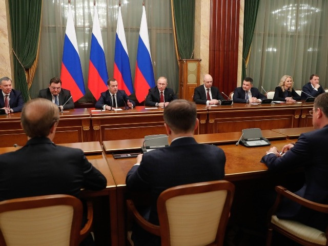 Russian prime minister and the entire government resign over President Putin's plan to remain in power indefinitely