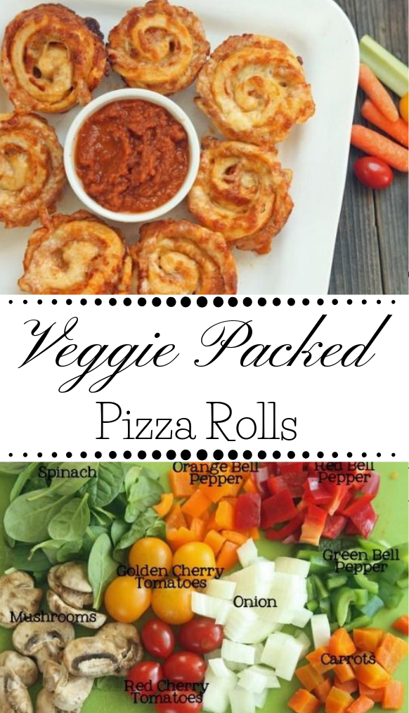 Veggie Packed Pizza Rolls Recipe #pizza #veggie #vegetarian #rolls #vegetarian