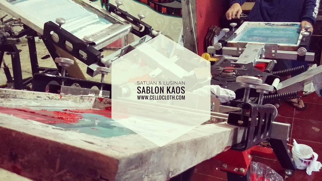 Sablon Kaos Manual Yogyakarta Pengiriman Sabang Merauke