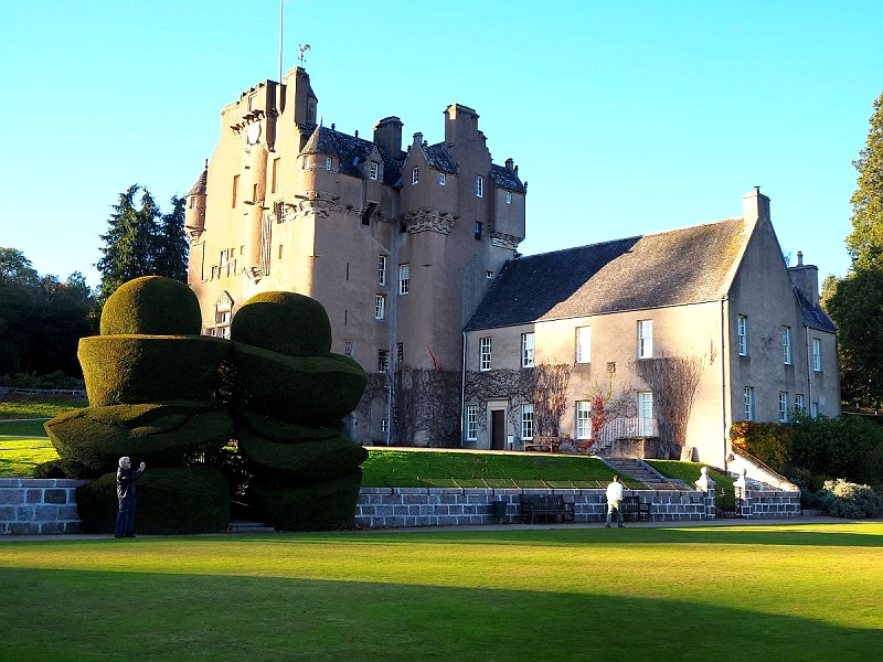 Crathes Castle near Banchory in Aberdeenshire