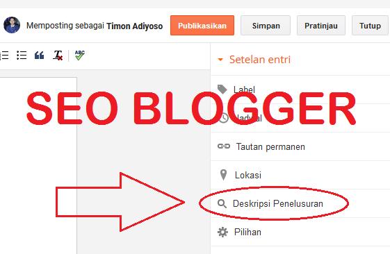 Cara mengaktifkan dan mengisi Deskripsi Penelusuran di Blogspot