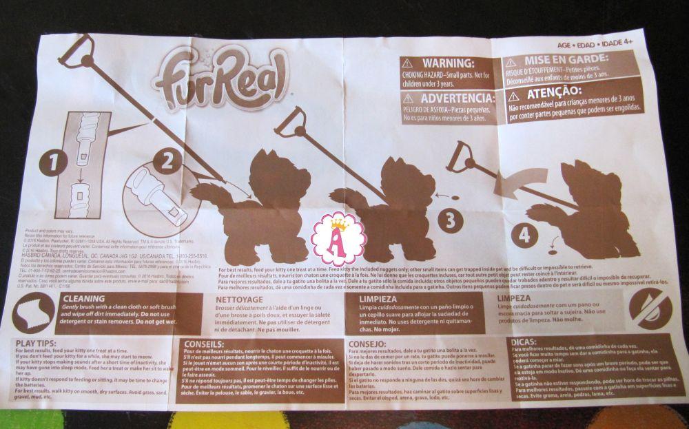 Инструкция к котенку Ками из серии FurReal Friends My Poopin Kitty