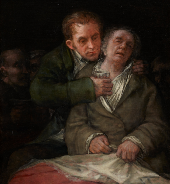 Francisco Goya, Self-portrait with Dr. Arrieta (1820)
