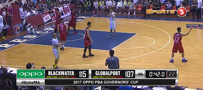 Blackwater def. GlobalPort, 118-107 (REPLAY VIDEO) September 17