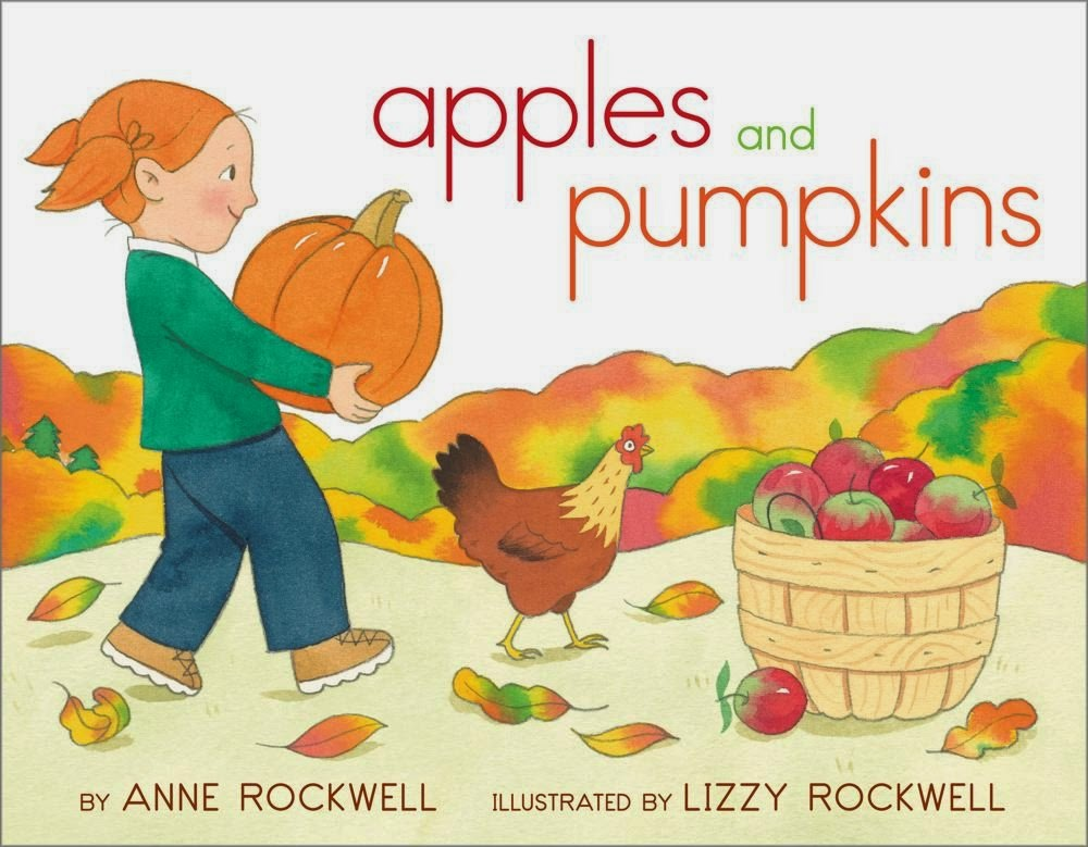 Apples and Pumpkins, part of children's book review list about fall