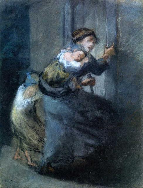 Жан Франсуа Милле - Мать с двумя детьми