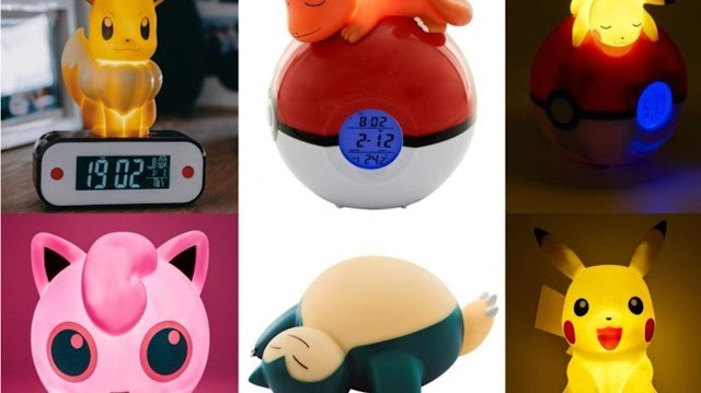 Pokemon official alarm clock revealed lanterns