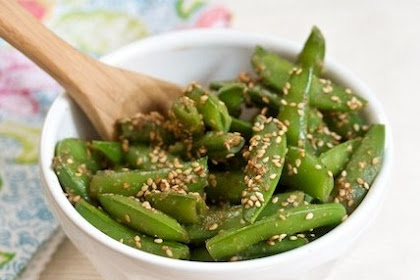 Easy Sesame Sugar Snaps