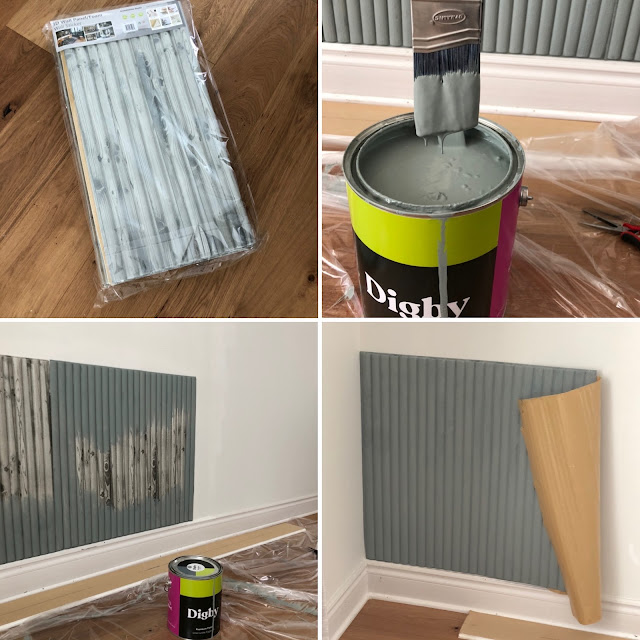 Modern Living Room Makeover - process