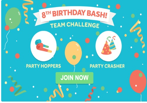 Swagbucks 8th Birthday Bash Team Challenge