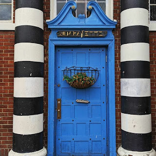 Buffalo Architecture: awesome blue door at Sweet Ness 7