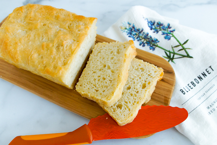 English Muffin Bread : simple to make, minimal ingredients, makes two loaves, no kneading