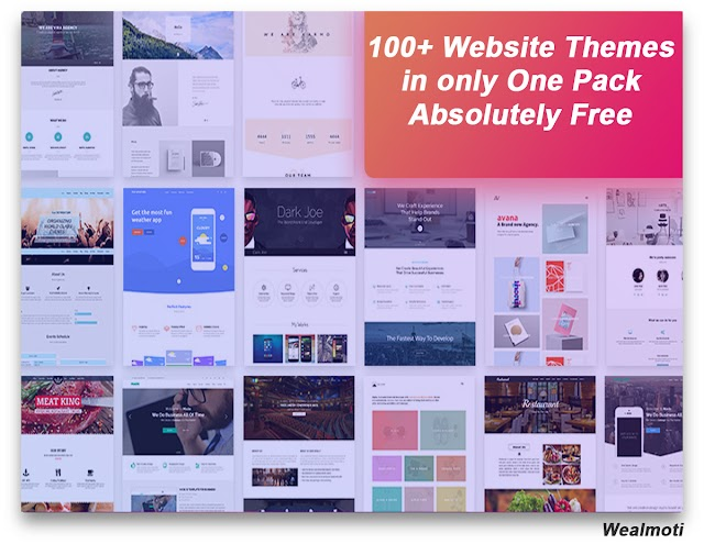 100+ Website Themes in only One Pack – Absolutely Free 2020