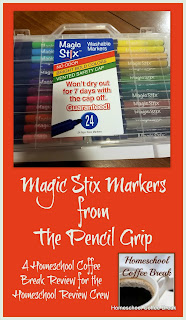 Magic Stix Markers from The Pencil Grip (Review and Giveaway) - A Homeschool Coffee Break Review for the Homeschool Review Crew @ kympossibleblog.blogspot.com