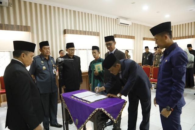 Dilantik, Dua Pejabat Tinggi di Kabupaten Way Kanan