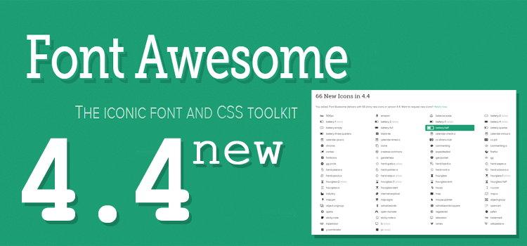 Font Awesome Kini Telah Diupdate Ke Versi 4.4