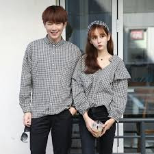 Baju Kemeja Couple Style Korea Terbaru